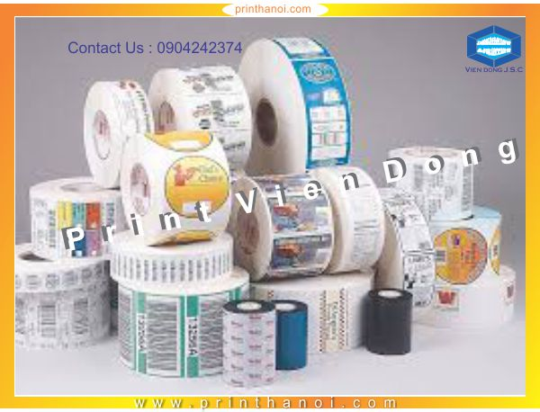 Label Printing Services | Print high quality sticker in Hanoi | Print Ha Noi