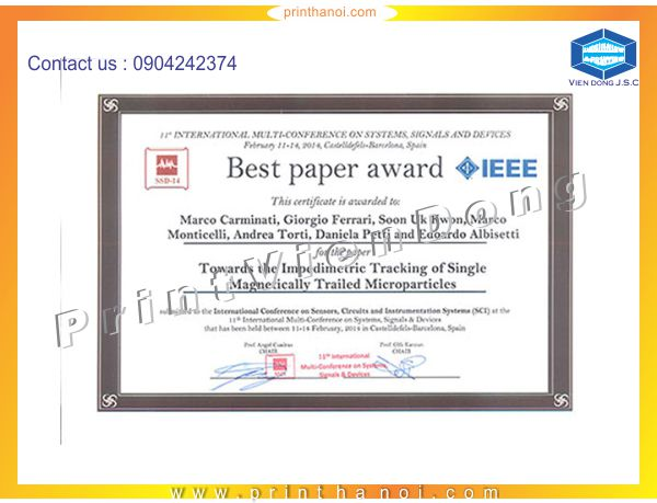 Print paper award in hanoi | Making aluminum label | Print Ha Noi
