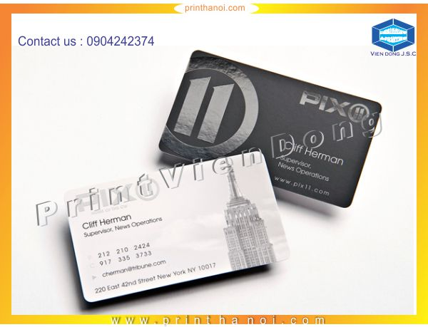 Spot Gloss Business Cards in Ha Noi | Print Ha Noi