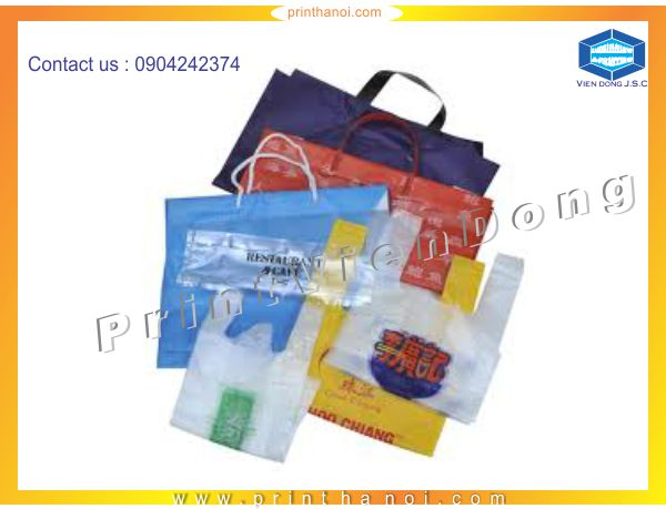 Print plastic bags in hanoi | Foil business card and embossed business card | Print Ha Noi