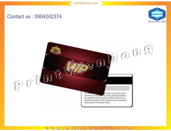 Immediately printing plastic cards | Label Printing Services | Print Ha Noi