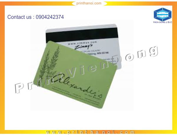 Introducing Print Plastic Card Services | Foil business card and embossed business card | Print Ha Noi