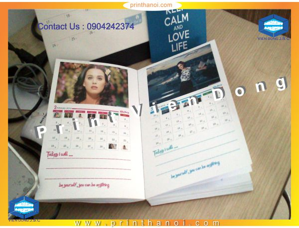 Print calendar book in Hanoi-Vietnam | Cheap Folded Business Cards Printing | Print Ha Noi