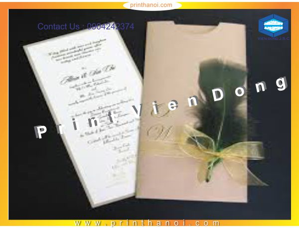 Print wedding card | Cheap Folded Business Cards Printing | Print Ha Noi