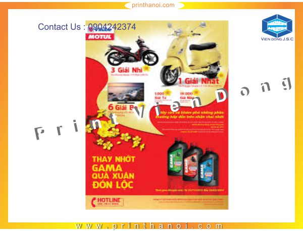 Design & print poster in Hanoi | Label Printing Services | Print Ha Noi