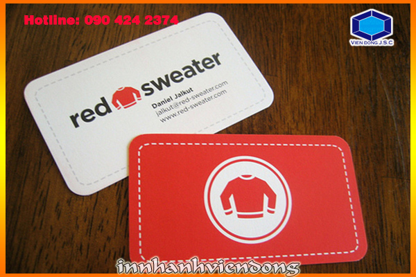 Rounded Corner Business Cards | Print Packaging | Print Ha Noi