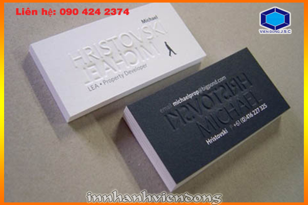Print Premium Business Cards at HaNoi | Fast printing menu | Print Ha Noi