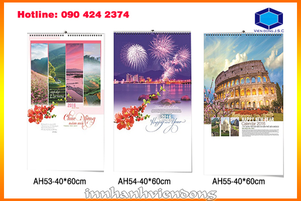 Print cheap wirebound wall calendar in Ha Noi | Cheap matrix LED light full colours in Ha Noi | Print Ha Noi