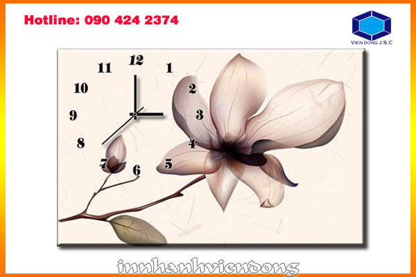 Print art picture clock  | Secret Flower Box | Print Ha Noi