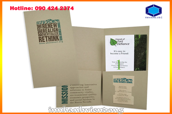 Print cheap presentation folder in Ha noi | Print Sticker | Print Ha Noi