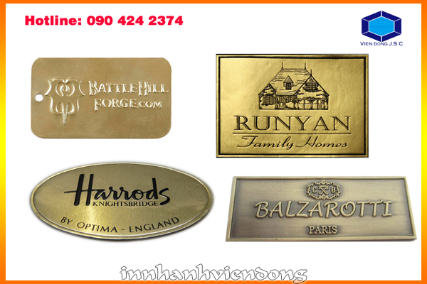 Making embossed metal labels in Ha noi | Print plastic bags in hanoi | Print Ha Noi