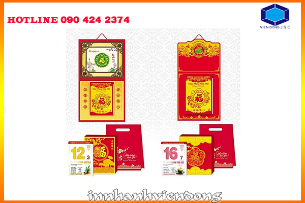 2016 cheap calendar printing in Hanoi | Red jingle bell paper engraving Christmas card | Print Ha Noi