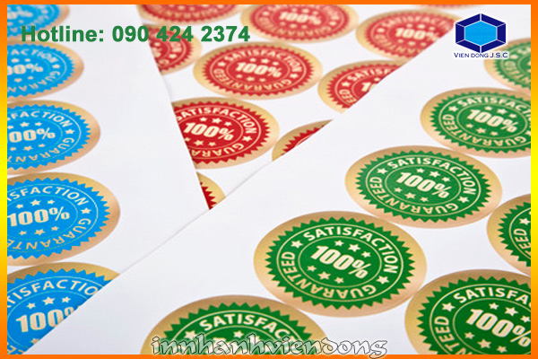 Print high quality sticker in Hanoi | Fast printing menu | Print Ha Noi