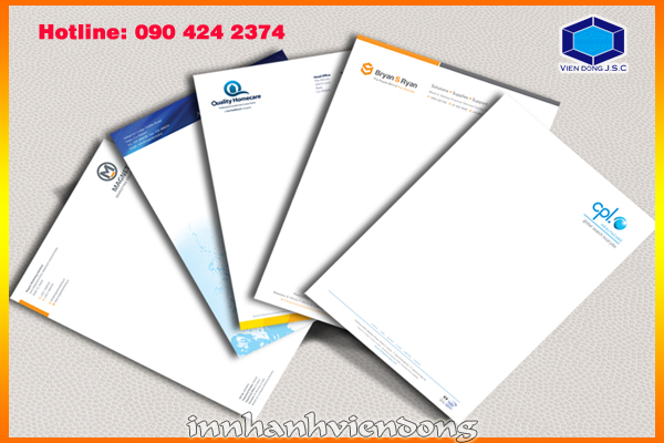 Print letter head | Business Card designs by category | Print Ha Noi