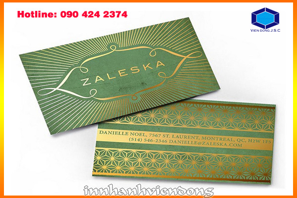 Foil business card and embossed business card | Cheap matrix LED light full colours in Ha Noi | Print Ha Noi