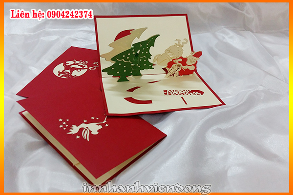 Print merry Christmas cards | Cheap Folded Business Cards Printing | Print Ha Noi
