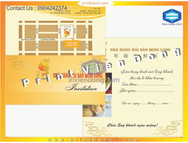 Cheap printing invitations in Hanoi | Foil business card and embossed business card | Print Ha Noi