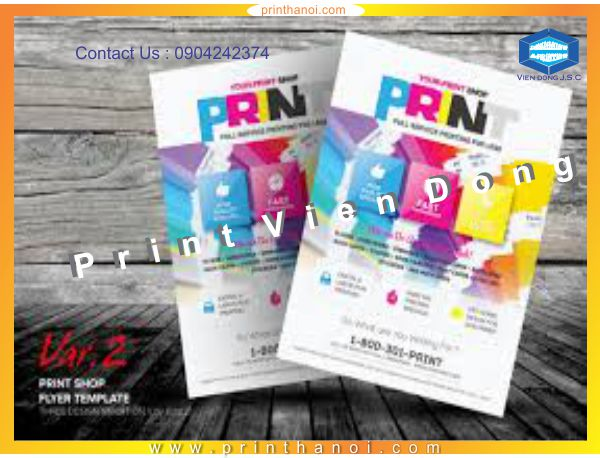 Printing flyer hanoi | Print high quality sticker in Hanoi | Print Ha Noi
