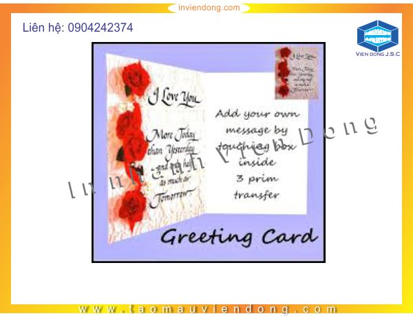 Fast Greeting Cards Printing | Secret Flower Box | Print Ha Noi
