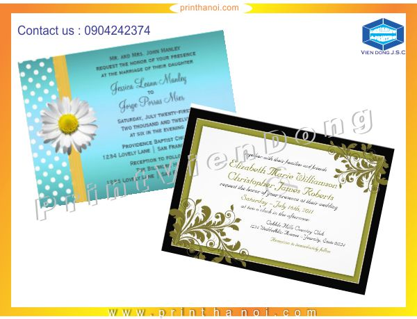 Cheap Graduation Annoucement Printing | Business Card designs by category | Print Ha Noi