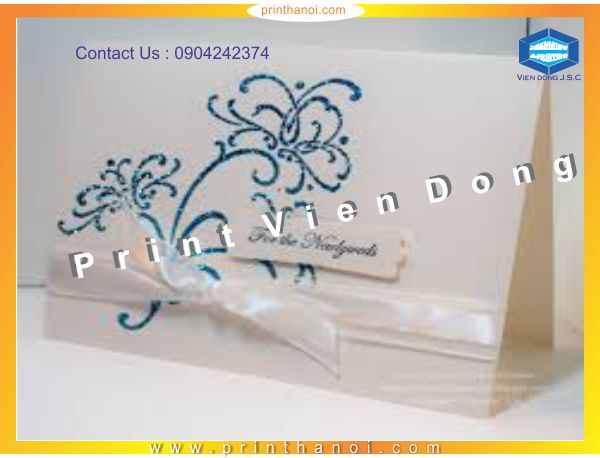 Beautiful Wedding Card Printting | Print wedding save-the-date card | Print Ha Noi