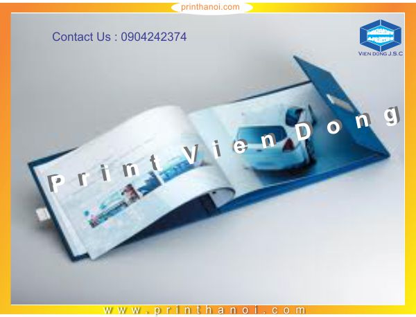 Quick Brochures Printing  | Foil business card and embossed business card | Print Ha Noi