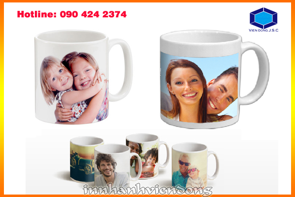 Personalized printed mug in Ha Noi | Business cards are cards bearing business information about a company or individual. They are shared during formal introductions as a convenience and a memory aid. A business card typically includes the giver's name, company or business affiliation (usually with a logo) and contact information such as street addresses, telephone number(s), fax number, e-mail addresses and website. Before the advent of electronic communication business cards might also include telex details. Now they may include social media addresses such as Facebook, LinkedIn and Twitter. Traditionally many cards were simple black text on white stock; today a professional business card will sometimes include one or more aspects of striking visual design. | Print Ha Noi