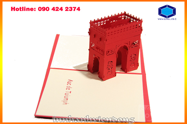 Print pop-up greeting card in Ha Noi | Fast print business card in Ha Noi | Print Ha Noi