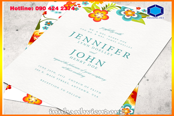 Print premium wedding card  | Foil business card and embossed business card | Print Ha Noi