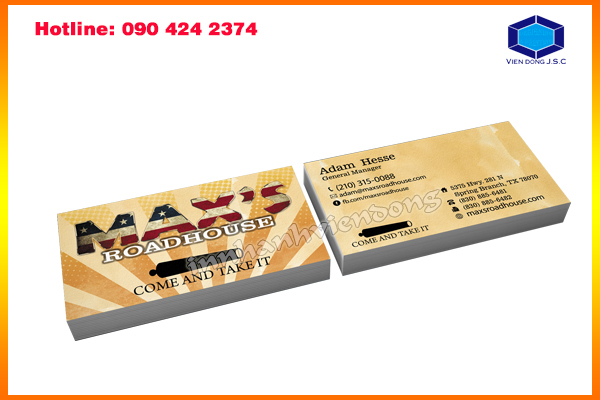 Business Card Stickers in Ha Noi | Fast printing menu | Print Ha Noi