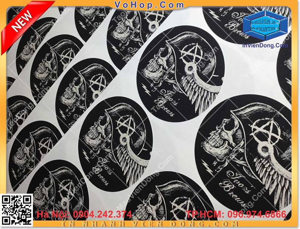 Print cheap labels | print gift bag for New Year festival in Hanoi | Print Ha Noi