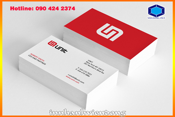 print business card in Hanoi