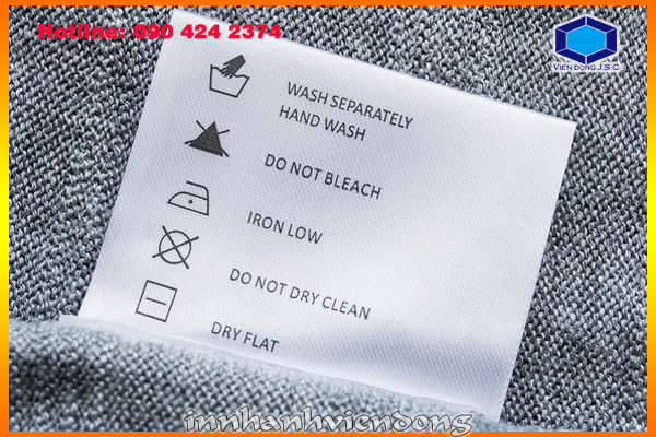 print cheap fabric label