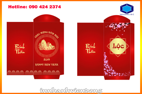 Print Red Envelope For New Year In Ha Noi Print Red Envelope For