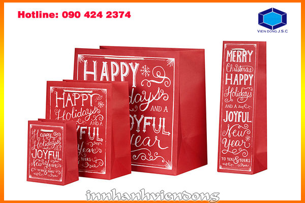 print gift bag for new year