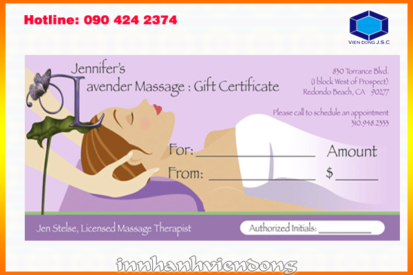 Print gift voucher in Ha Noi