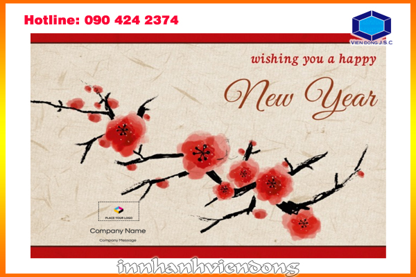 print new year greeting card in Hanoi
