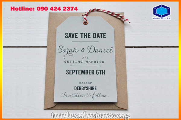 Print wedding save-the-date card