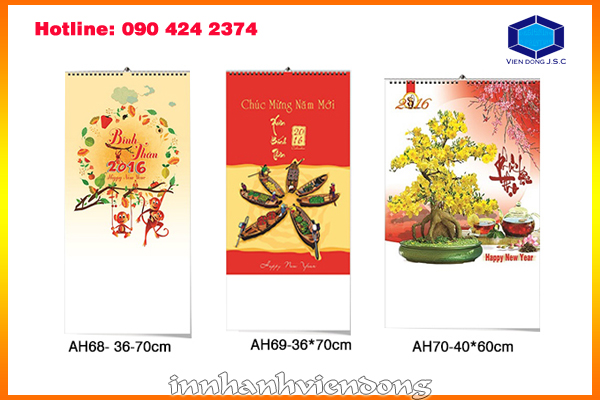 Print cheap wirebound wall calendar in Ha Noi