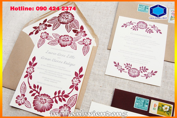 print cheap wedding card in Ha Noi